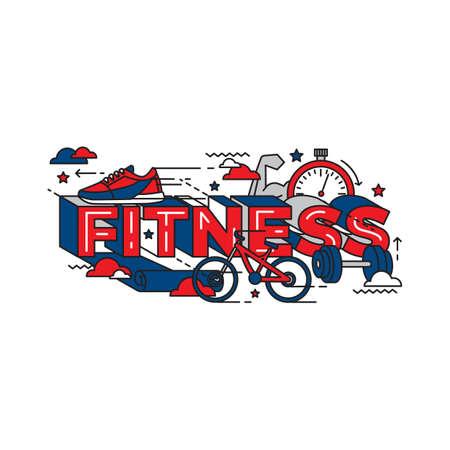 Fitness lettering design.