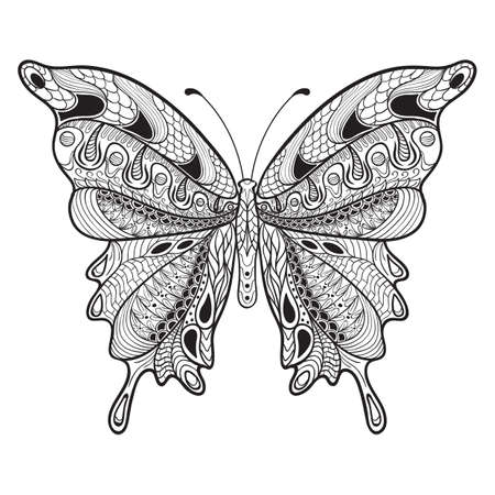 intricate butterfly design