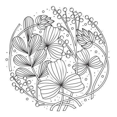 intricate floral design Imagens - 77501444
