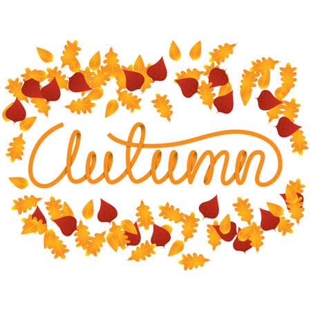 Autumn lettering design.