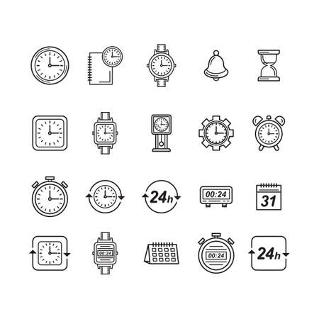 Collection of watch icons.