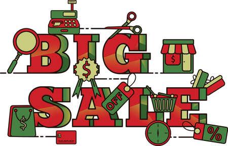 Big sale lettering design Stock Vector - 77390230