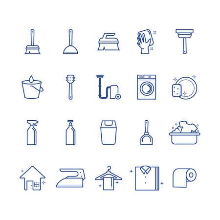 Collection d'icônes de nettoyage Vecteurs