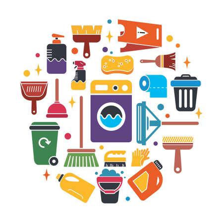 schoonmaak icoon verzameling