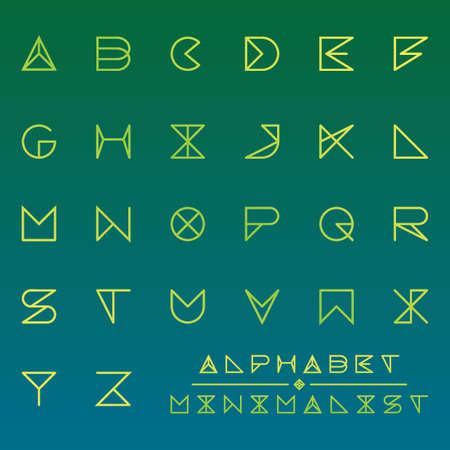 collection of minimalist alphabets