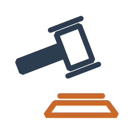 裁判所の小槌  イラスト・ベクター素材