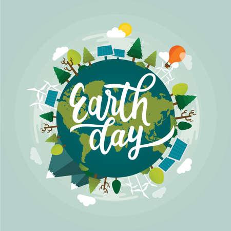 Earth day design Illustration