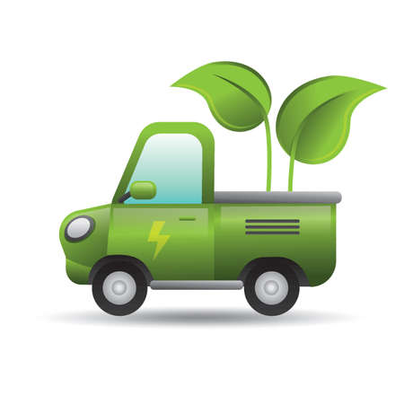 Vehicle with eco friendly concept Ilustrace