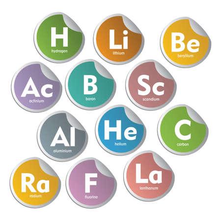Verschillende periodieke elementen Vector Illustratie