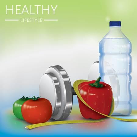 healthy lifestyle design Illustration