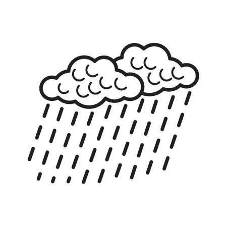 Clouds with rain Ilustração