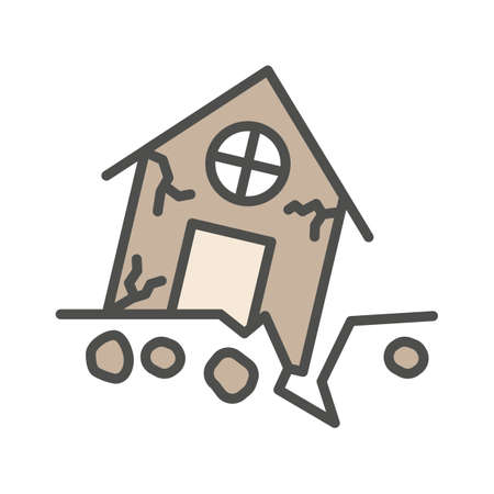 House in earthquake Illustration