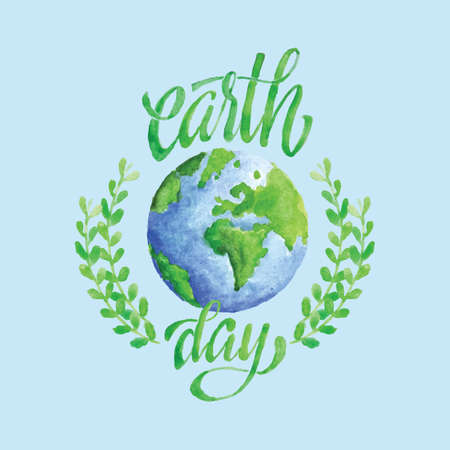 Earth day design Vectores