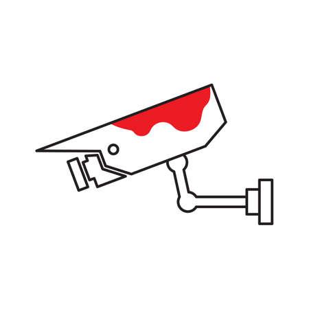Crime footage Ilustração