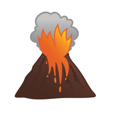 Volcanic eruption Çizim