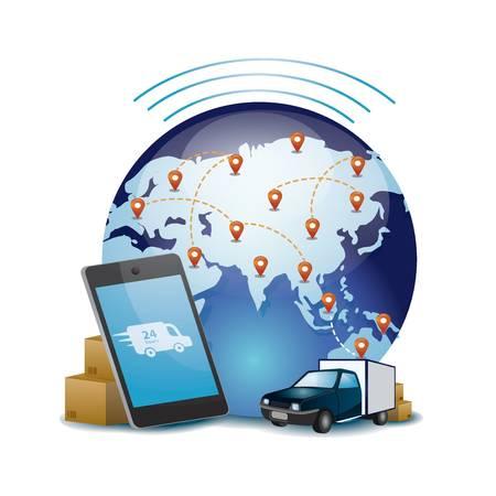 International delivery concept Illusztráció