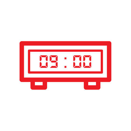 Digital clock icon Иллюстрация