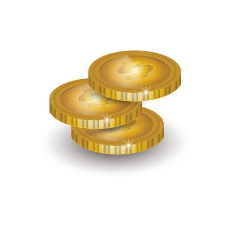 Stack of coins Illustration