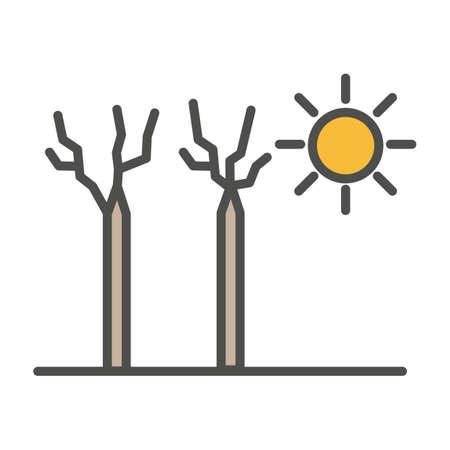 Heatwave concept Ilustrace