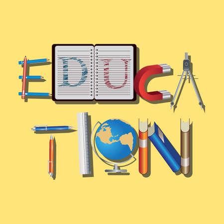 Education lettering design Çizim