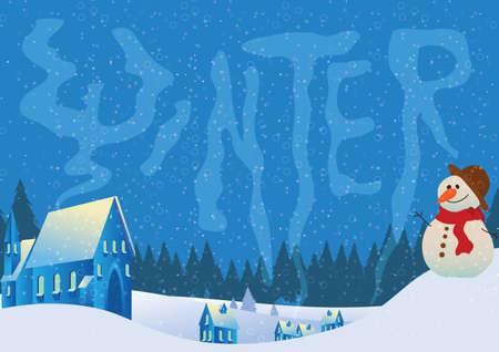 winter lettering design Иллюстрация