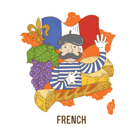 French concept Stock Vector - 77175029