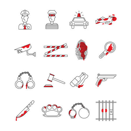 Set of crime icons Imagens - 77175060