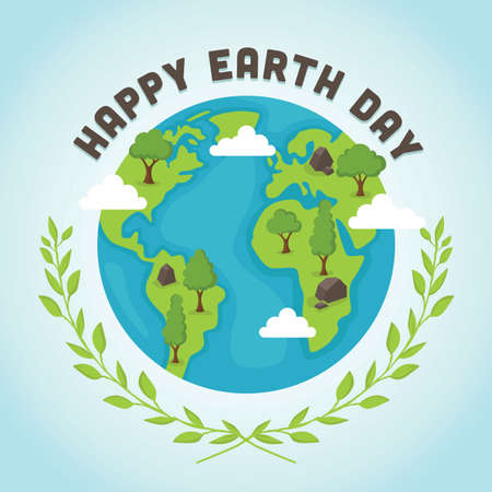 Earth day design Ilustrace