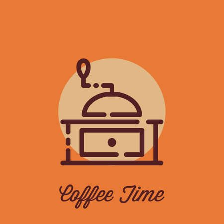 coffee grinder Ilustração