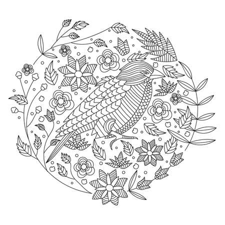 intricate bird design Imagens - 77564852