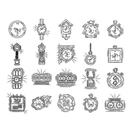 collection of timepiece icons