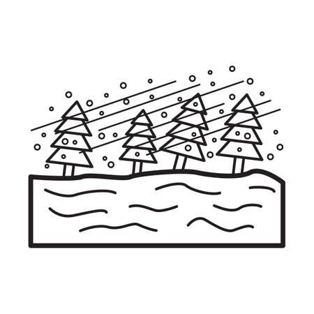 blizzard concept Ilustração