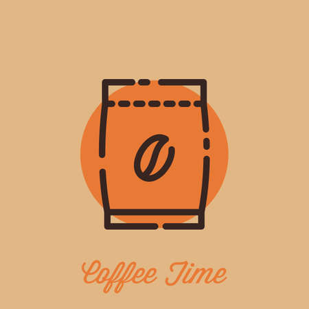 coffee bean bag Иллюстрация
