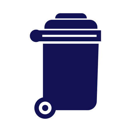 rubbish bin with wheels