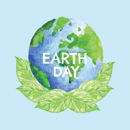 지구의 날 디자인 일러스트