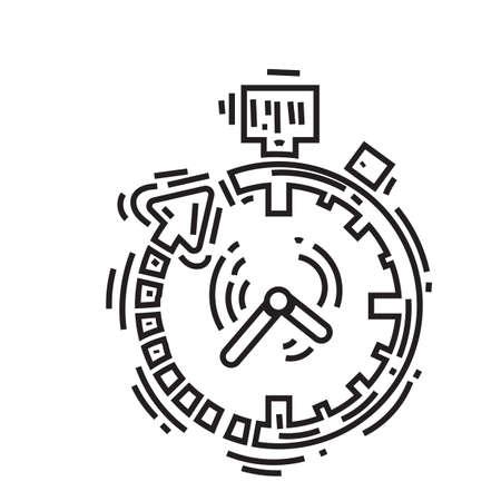 ストップウォッチ  イラスト・ベクター素材
