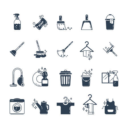 Set pictogrammen voor huishoudelijke apparatuur Stockfoto - 77503020