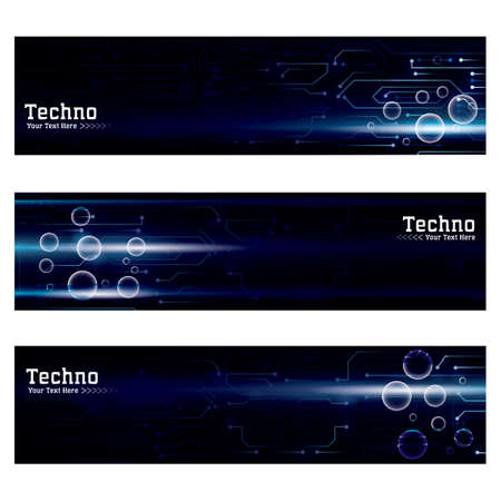 collection of technological web banners