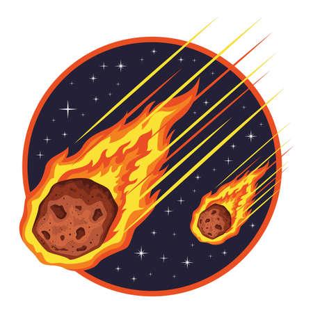 Pluie de météorites Banque d'images - 77522986