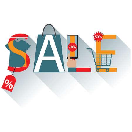 e shop: sale lettering design