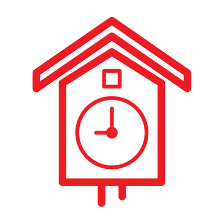 pendulum clock icon Stock Vector - 77392651