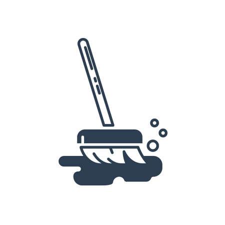 A bristle broom Иллюстрация