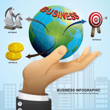 business infographic design Illustration