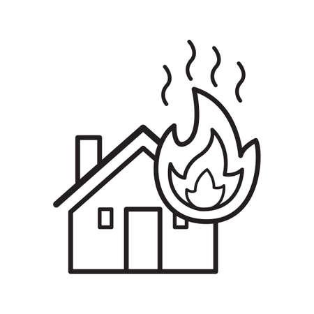 A house on fire Иллюстрация