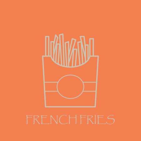 Pommes frittes Standard-Bild - 77395148