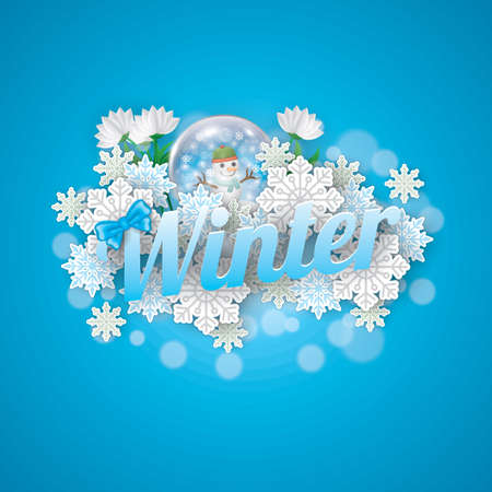 winter belettering ontwerp Stock Illustratie