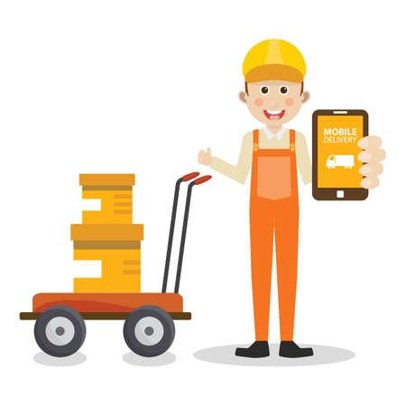 convenient: mobile delivery concept