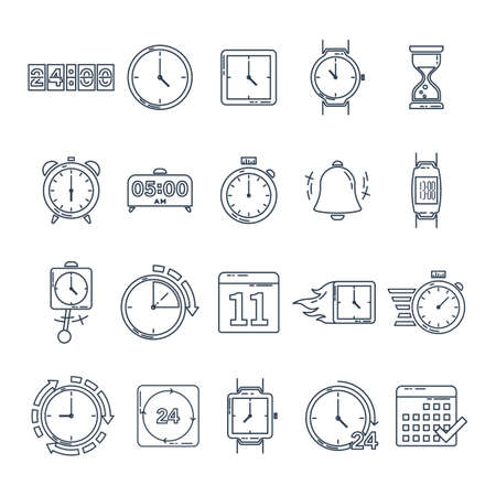 A set of time icons Stock Vector - 77392917