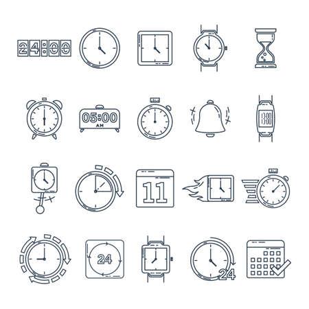 Een set van tijd pictogrammen