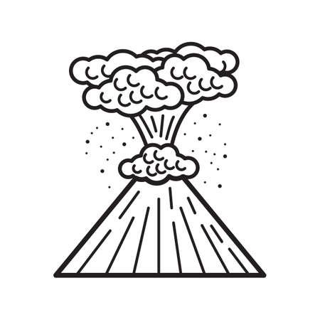 RUption volcanique Banque d'images - 77421467